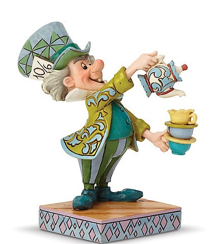 Disney Traditions Collection by Jim Shore Alice in Wonderland Mad Hatter #double;A Spot of Tea#double; Figurine