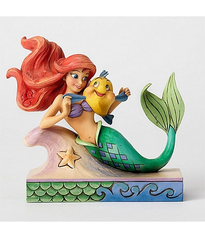 Disney Traditions Collection by Jim Shore Ariel with Flounder #double;The Little Mermaid#double; Figurine