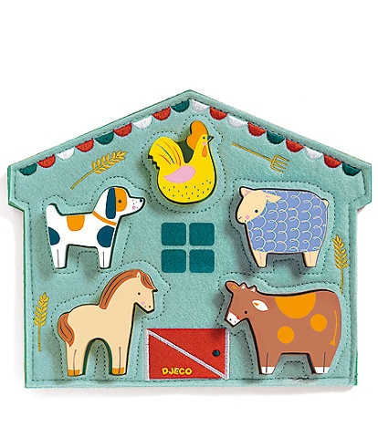 Djeco Mowy Farm Animal Puzzle