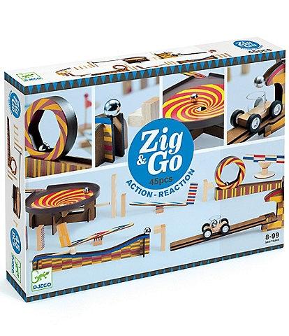 Djeco Zig and Go Wroom Chain Reaction Construction Set - 45 pc