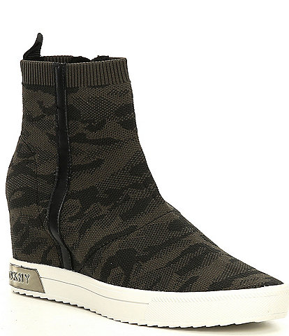 DKNY Cali Camo Print Wedge Sneakers