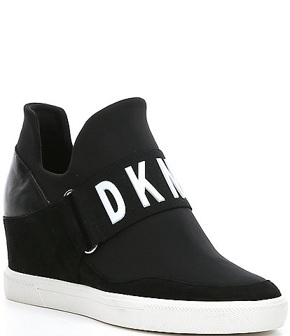 DKNY Cosmos Logo Hidden Wedge Slip On Sneakers