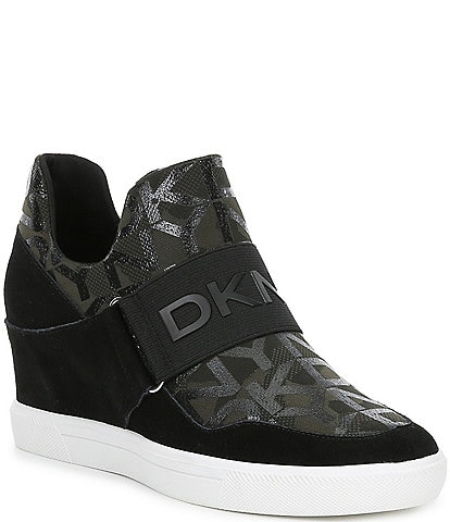 DKNY Cosmos Signature Logo Wedge Sneakers