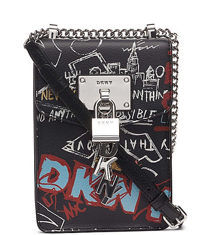 DKNY Elissa Graffiti North South Crossbody Bag