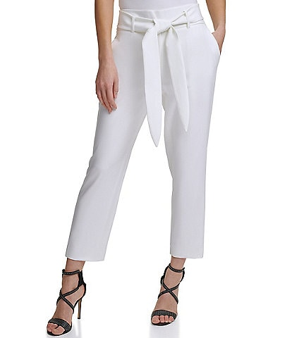 DKNY High Waist Tie Front Pant