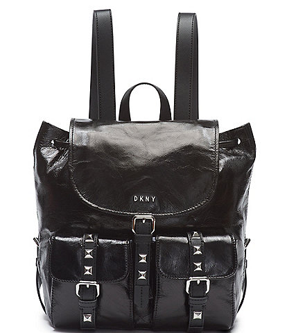 DKNY Naomi Crinkle Leather Drawstring Backpack