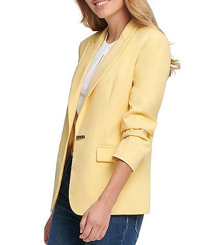 DKNY Notch Lapel Logo Closure Jacket