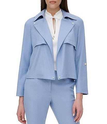 DKNY Open Front Roll Tab Jacket