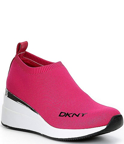 DKNY Parks Knit Wedge Sneakers