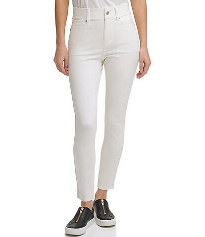 DKNY Ponte Knit 5-Pocket High-Rise Slim-Leg Pants