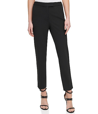 DKNY Scuba Crepe Slim Leg Ankle Pants