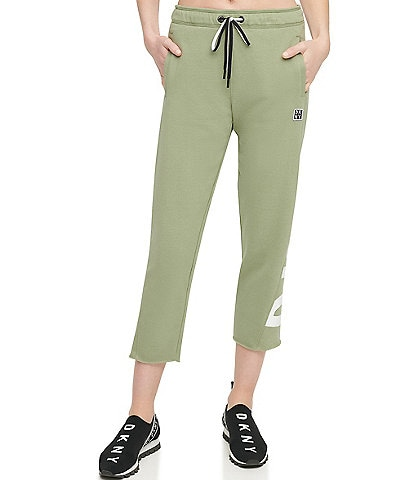 DKNY Sport Cropped Cut Off Logo Jogger