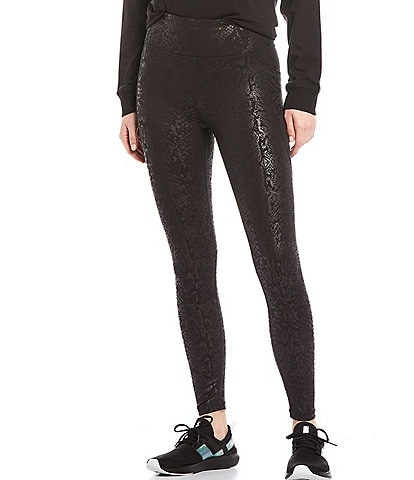 DKNY Sport High Waist Snake Print Fitness Tight With Pockets