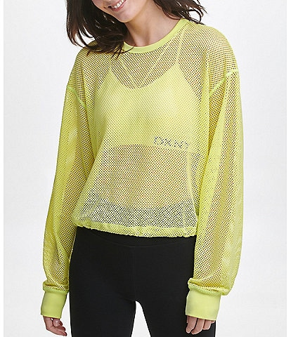 DKNY Sport Mesh Cropped Pullover
