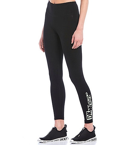 DKNY Sport Newspaper Logo High Waist 7/8 Legging
