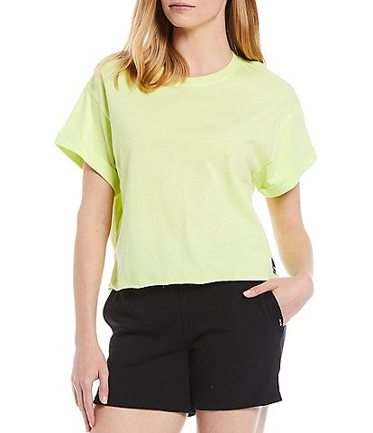 DKNY Sport Patch Logo Cropped Boxy Tee