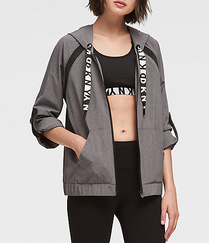 DKNY Sport Roll Cuff Boxy Hooded Jacket