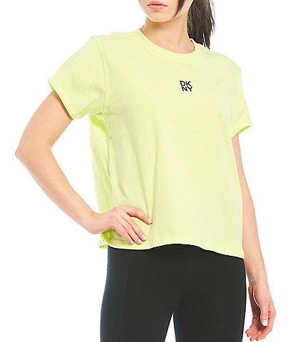 DKNY Sport Stacked Logo Short Sleeve Boxy Tee