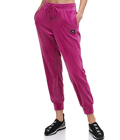 DKNY Sport Velour Relaxed Internal Drawcord Coordinating Joggers