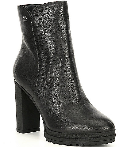 DKNY Tessi Leather Booties
