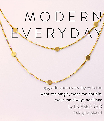 Dogeared Modern Everyday Multi Circle Long Layering Necklace