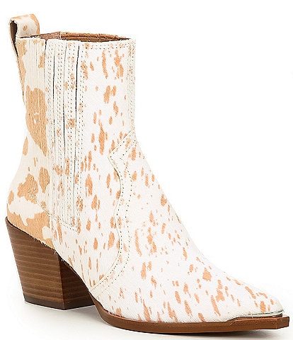 Dolce Vita Serna Printed Haircalf Western Booties
