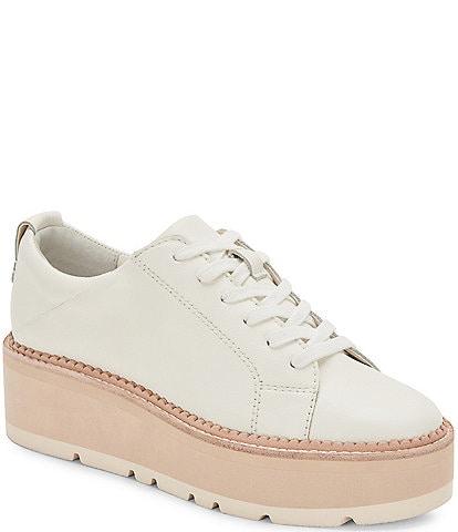 Dolce Vita Toyah Leather Platform Sneakers