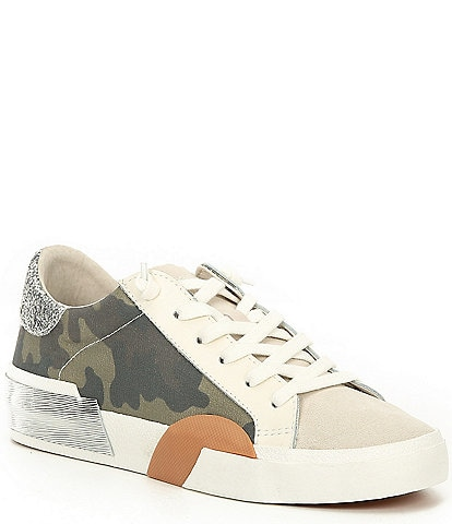 Dolce Vita Zina Camo Canvas Lace-Up Sneakers