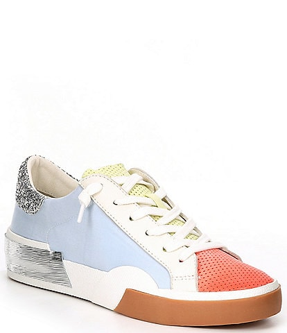 Dolce Vita Zina Colorblock Perforated Lace-Up Sneakers