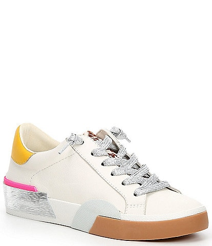 Dolce Vita Zina Leopard Print Leather Sneakers