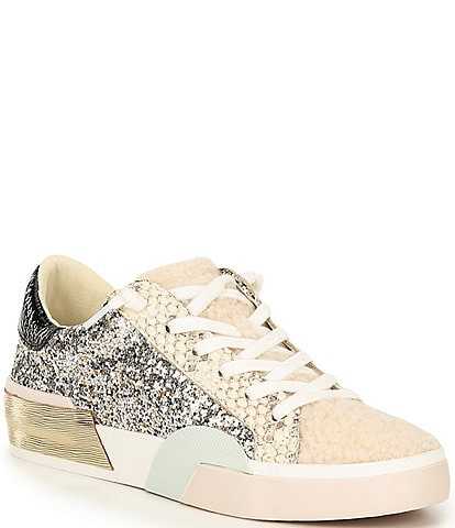 Dolce Vita Zina Plush Sequined Faux Shearling Sneakers