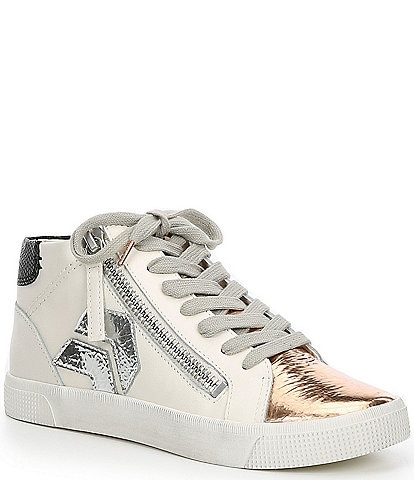 Dolce Vita Zonya Leather & Suede High Top Sneakers