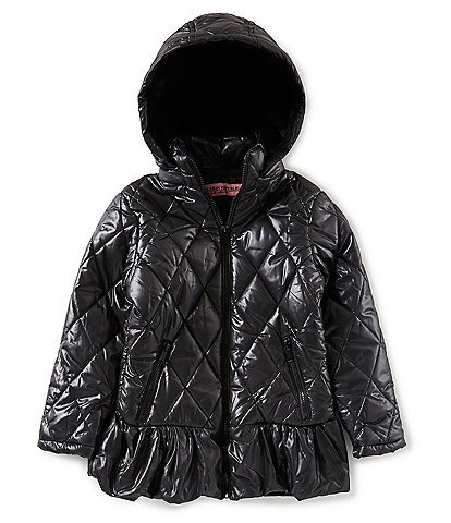 Urban Republic Big Girls 7-16 Hooded Ruffle-Hem Puffer Jacket