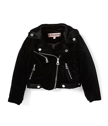 Urban Republic Little Girls 2T-6X Velvet Moto Jacket