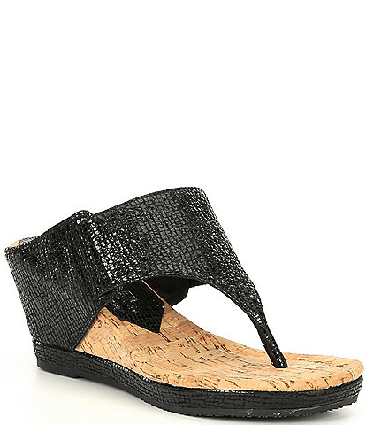 Donald Pliner Malone Leather Wedge Sandals