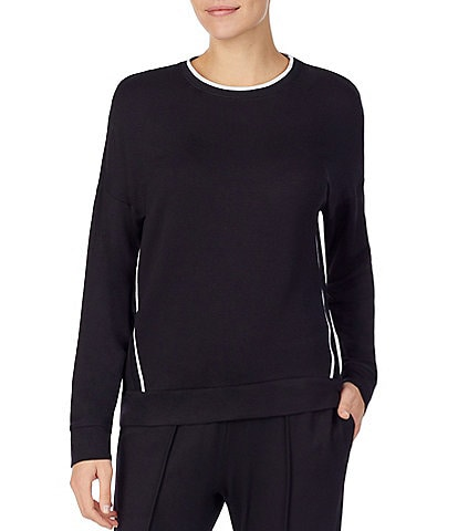 Donna Karan French Terry Drop Shoulder Lounge Top
