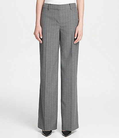 Donna Karan New York Pinstripe Wide-Leg Pants