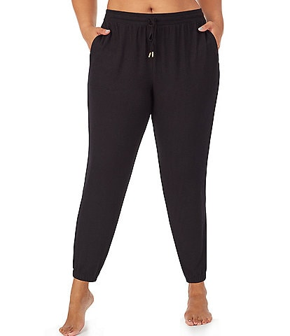 Donna Karan Plus Solid Brushed Sweater Knit Jogger Pants