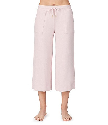 Donna Karan Revive Marled Brushed Knit Cropped Sleep Pants
