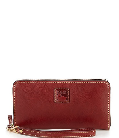 Dooney & Bourke Florentine Collection Large Zip Around Wristlet