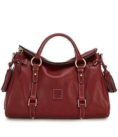 Dooney & Bourke Florentine Leather Tasseled Satchel Bag