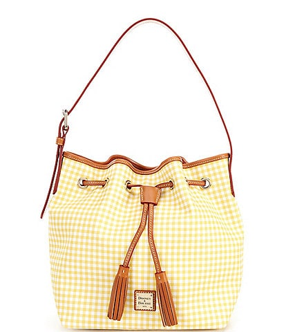 Dooney & Bourke Gingham Collection Aimee Drawstring Bag