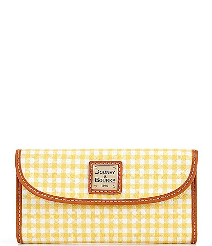 Dooney & Bourke Gingham Collection Continental Clutch