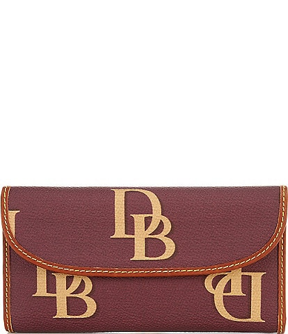 Dooney & Bourke Signature Monogrammed Collection Continental Clutch