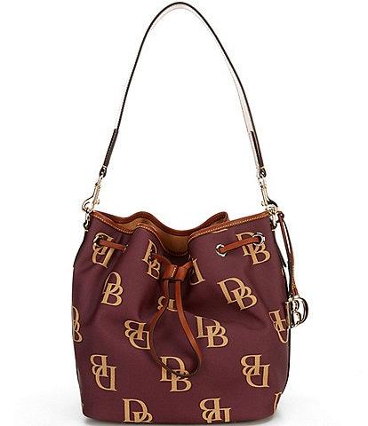 Dooney & Bourke Monogrammed Collection Drawstring Bucket Bag
