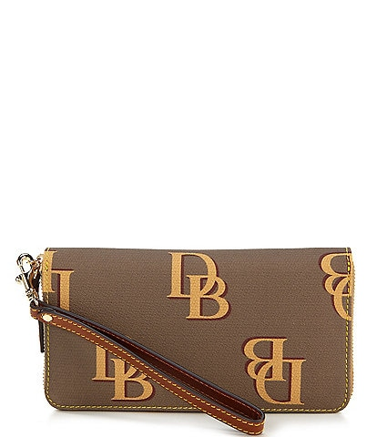 Dooney & Bourke Monogrammed Collection Large Zip Around Wristlet