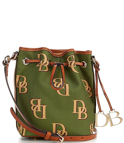 Dooney & Bourke Monogrammed Collection Small Drawstring Bucket Bag