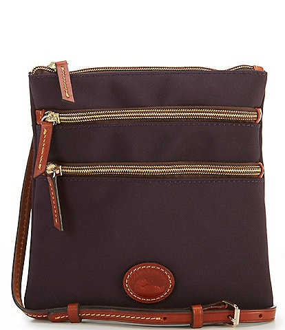 Dooney & Bourke Nylon Triple-Zip Cross-Body Bag