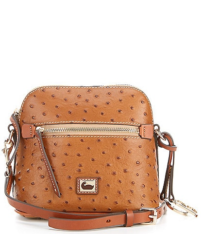 Dooney & Bourke Ostrich Collection Domed Crossbody Bag