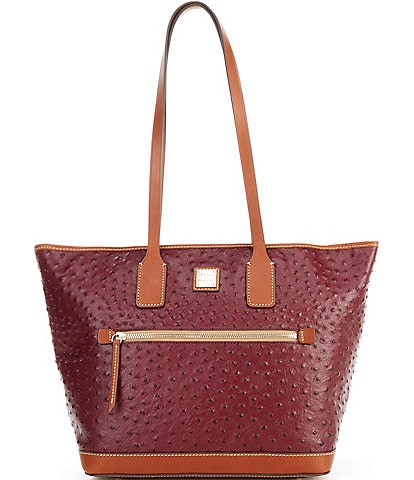 Dooney & Bourke Ostrich Collection Leather Tote Bag